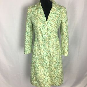 Express Size Small Springtime Trench Coat Green